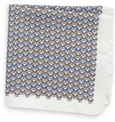 Eton Men's Geometric Dog Silk Pocket Square