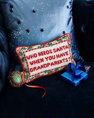 Who Needs Santa Needlepoint Pillow