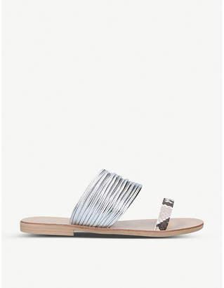 Kurt Geiger Rilson metallic faux-leather sandals