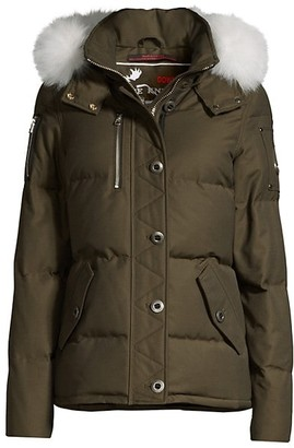 Moose Knuckles 3Q Fox Fur-Trim Quilted Jacket