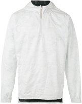 adidas zipped neck hoodie - men - Cotton/Polyester/Polyethylene - L