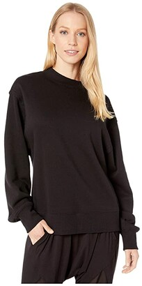 Alo Freestyle Sweatshirt (Black) Women's Clothing