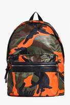 Boohoo Coloured Camo Backpack