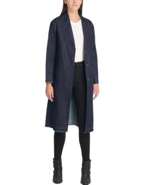 Levi's Long Button-Front Denim Duster