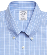 Brooks Brothers Supima® Cotton Non-Iron Slim Fit Button-Down Collar Broadcloth Glen Plaid Dress Shirt