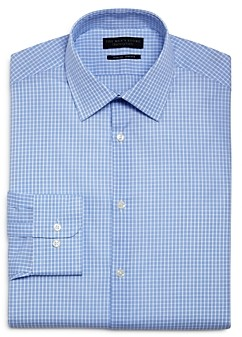 The Men's Store at Bloomingdale's Grid Slim Fit Dress Shirt - 100% Exclusive