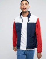 Tommy Hilfiger Color Block Nylon Jacket With Concealed Hood