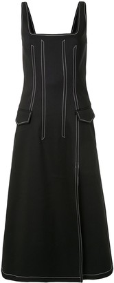 Dion Lee Contrast Stitching Fitted Waist Dress