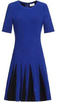 Milly Pleated Stretch-knit Mini Dress