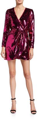 La Maison Talulah Sequined V-Neck Mini Dress