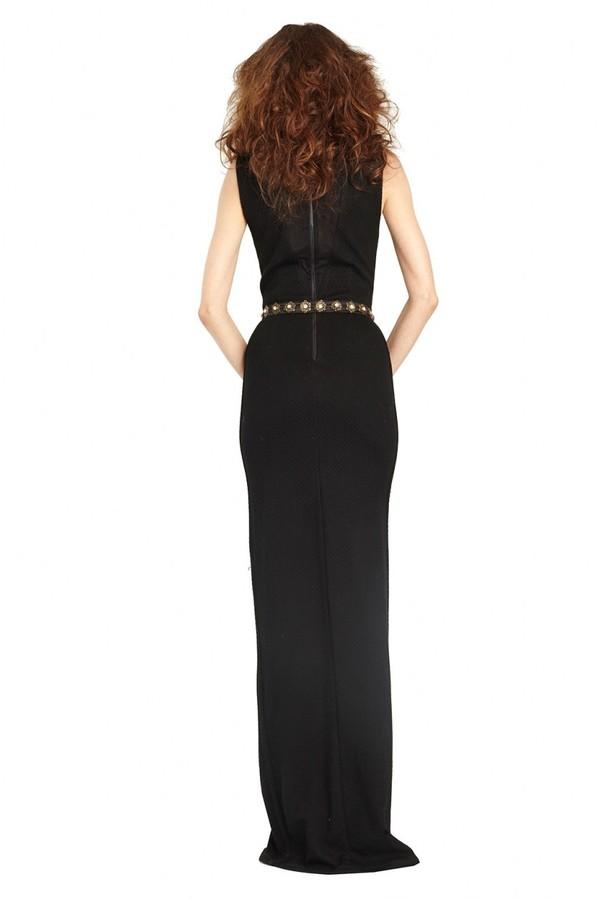 Alice + Olivia Kahlo V-Neck Maxi Dress With Slit