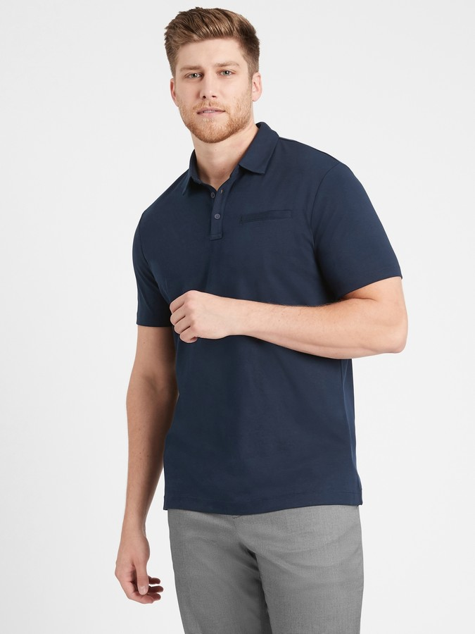 Thumbnail for your product : Banana Republic Luxury-Touch Performance Golf Polo Shirt