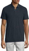 Theory Dennison Short-Sleeve Slub Polo Shirt, Eclipse