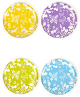 Twos Company Two's Company Two&s Company Multicolored Butterfly Plates - Set of 4