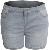 Hot From Hollywood Women's Plus Size Stretch Shaping Butt Lift Stitching Jean Denim Shorts