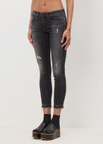 R 13 strummer black alison crop jean