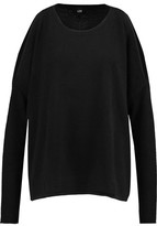 Line Hart Cold-Shoulder Cashmere Sweater