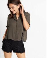 Express button down boxy shirt
