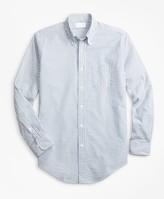 Brooks Brothers Golden Fleece Regent Fit Seersucker Sport Shirt