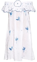 Thierry Colson Pippa Dandelion off-the-shoulder cotton dress