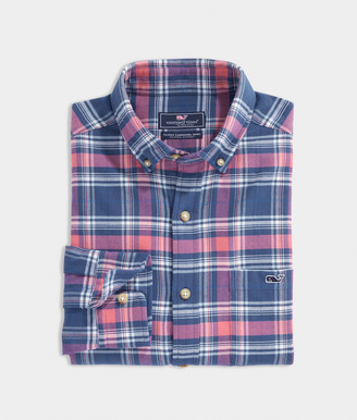 Vineyard Vines Big & Tall Classic Fit Plaid Flannel Tucker Shirt