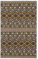Tribeca Flatweave Charcoal Wool Rug (5' x 8')