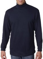 UltraClub Men's Egyptian Interlock Long Sleeve Turtleneck