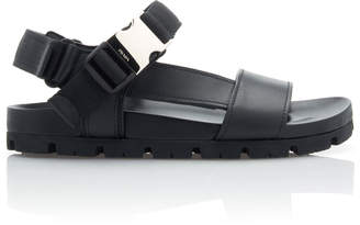 Prada Buckled Leather Sandals