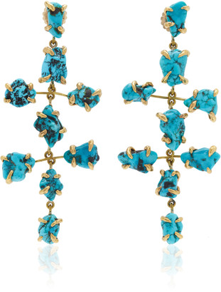 Lisa Eisner Turquoise Nugget Asteroid Earrings