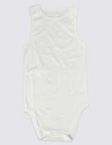 Marks and Spencer Pure Cotton Flat Seams Bodysuit (9-16 Years)