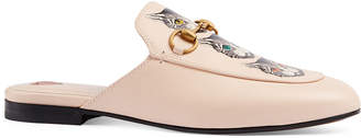 Gucci Princetown Mystic Cats Leather Mules