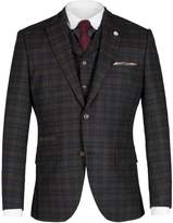 Gibson Navy Tartan Check Jacket