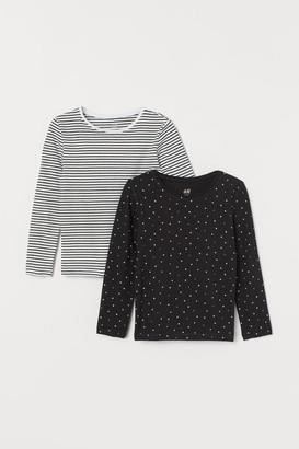 H&M 2-pack Long-sleeved Tops - White