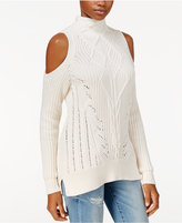 Rachel Roy Cable-Knit Cold-Shoulder Sweater, Only at Macy's