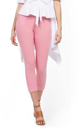 New York & Co. Whitney High-Waisted Pull-On Capri Pant - Pink Stripe