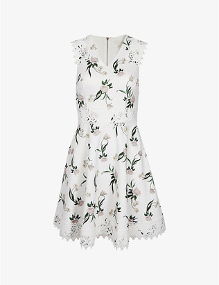 Ted Baker Nolla floral-print stretch-crepe dress