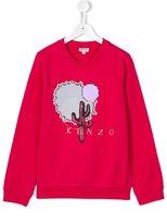 Kenzo embellished cactus embroidered sweatshirt - kids - Cotton/Viscose - 14 yrs