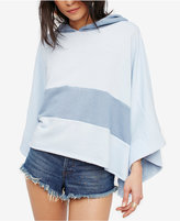 Free People Never Say Never Cotton Hooded Poncho