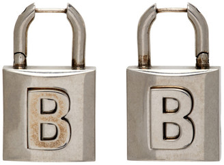 Balenciaga Silver Small Lock Earrings