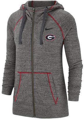 Nike Women Georgia Bulldogs Gym Vintage Full-Zip Jacket