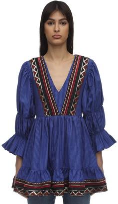 Lug Von Siga Pinstripe Mini Dress