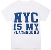 "Little DiLascia ""NYC Is My Playground"" Jersey T-Shirt-WHITE"
