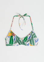 And other stories Tropical Underwire Halter Bikini Top