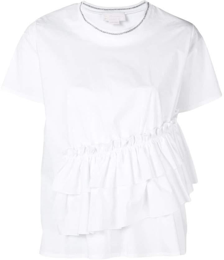 Genny ruffle detail T-shirt