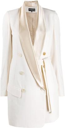 Ann Demeulemeester Contrast Lapels Wrap Coat