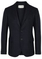 Oliver Spencer Brookes Navy Wool Jacquard Jacket