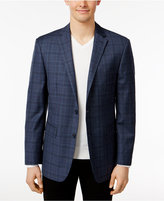 Vince Camuto Men's Slim-Fit Blue and Gray Plaid Sport Coat