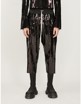 Rick Owens Bela relaxed-fit sequin trousers