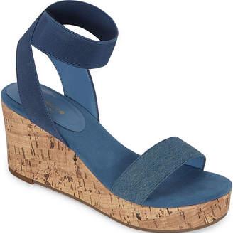Liz Claiborne Womens Hapur Wedge Sandals