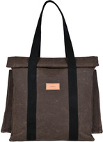 Thumbnail for your product : LaneFortyfive - The Basto Tote Bag - Chocolate Waxed Canvas